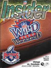 MINNESOTA VIKINGS VS. DALLAS COWBOYS WILD CARD PLAYOFF INSIDER MAG JAN. 9, 2000