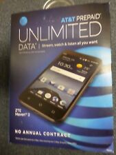 NEW AT&T Prepaid ZTE Maven 3 4G LTE with 8GB Memory Cell Go Phone