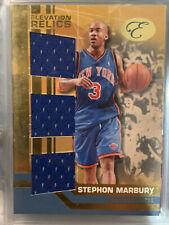 2007/08 Bowman Elevation Relics Jersey Blue ETR-SM Stephon Marbury Knicks 18/29