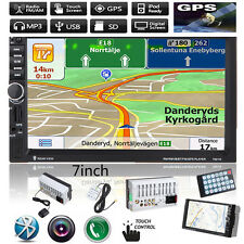 "7"" 2 DIN Radio Hd Bluetooth Touch Auto estéreo reproductor MP3 MP5 Navegación GPS USB/Sd/Fm/tv"