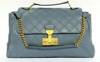 MARC JACOBS Runway Cornflower Blue Minetta Baroque Quilted Leather Satchel Bag