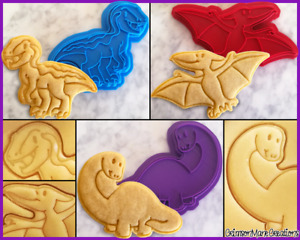 Dinosaur Cute Cookie Cutter Set Velociraptor Baking Supplies Ceramics Pottery