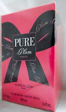KAREN LOW PURE GLAM PARIS 3.4 OZ / 100 ML EAU DE PARFUME NIB FOR WOMEN SPRAY