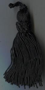 "4""  BLACK  CROWN TASSELS LOT OF 12 TRIM"