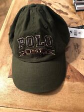 Polo Ralph Lauren Baseball Cap Sports Hat Pony at Back W / Leather Strap MSRP$49