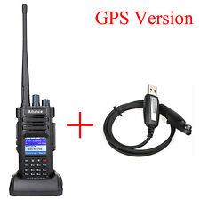 Ailunce HD1 GPS DMR Talkie Walkie Dual Band 2m/70cm 3200mAh VOX Ham Radio + USB