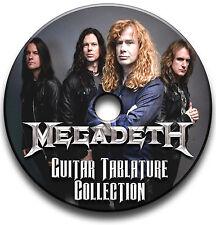 155 x Megadeth Rock Thrash Metal Guitar Tab Tablature Song Book CD