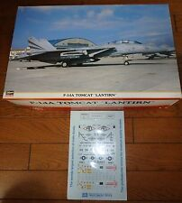 1/48 HASEGAWA F-14A LANTIRN w/ RESIN + METAL PARTS MICROSCALE DECAL VF-14 VF-102