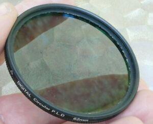 Quantaray C-PL Circular Polarizing 62mm filter Lens Polar digital wide angle