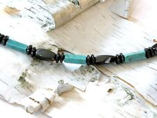 Men's Women's Magnetic Chalk Turquoise Necklace THERAPY CIRCULATION QUICK SHIP
