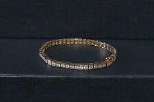 """Vintage Sterling Silver Gold Wash Cz Tennis Bracelet 7"""" Stunning"""
