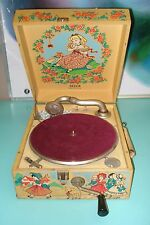 Exceptionally RARE Decca Nursery model 78 record player Gramophone Phonograph 49