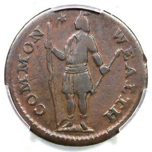 1787 4-C R-2 PCGS VF 35 Massachusetts Half Cent Colonial Copper Coin 1/2c