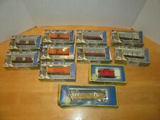 Lot 11 Ho scale AHM Trains In Boxes Box Baggage Tank Gondola Caboose Cars