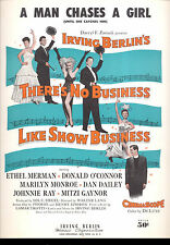 """THERE'S NO BIZ LIKE SHOW BIZ Sheet Music """"A Man Chases A Girl"""" Marilyn Monroe"""