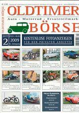 OLDTIMER BÖRSE - Magazin Katalog Kleinanzeiger Ersatzteile 2/2009 - B23653