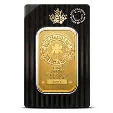 1 Troy Oz Royal Canadian Mint (RCM) Gold Bar .9999 Fine - Sealed in Assay Card