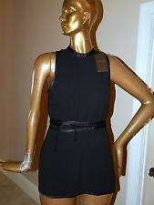 New Gucci Little Black Dress with Silk Satin Trim sz 42 Italy nwt