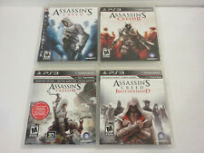 ASSASSIN'S CREED 1 2 3 BROTHERHOOD I II III 100% 4 GAMES PS3 PLAYSTATION 3