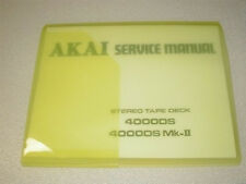 AKAI  4000DS/4000DS Mk-ll SERVICE MANUAL  ALL 43 PAGES