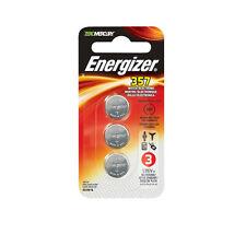 Energizer 357 Zero Mercury Silver Oxide Batteries 3 Pk