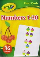Flash Cards - Numbers - 1 - 20 Crayola - 36 Cards