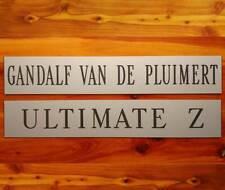 "Engraved Stall Sign Horse Barn Stable 12"" x 2"" Custom Durable Plastic Laminate"