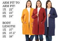 BIG WOMENS PLUS SIZE KNIT LONG SLEEVE SWEATER TUNIC DRESS MAXI COAT CARDIGAN
