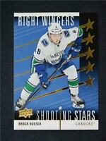 2019-20 UD Series 1 Shooting Stars Red Right Wings #SSR-3 Brock Boeser