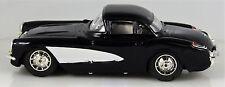 LUXE CAR  BLACK 1957  CORVETT  IN BOX