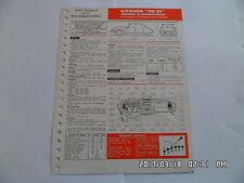 FICHE TECHNIQUE DE RTA CITROEN DS 23 MOTEUR A CARBURATEUR N°324 A 05/1973   G12