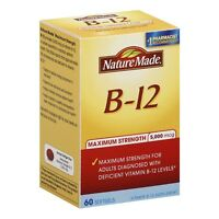 Nature Made B-12 Maximum Strength Softgels 5000 mcg 60 ea (Pack of 3)