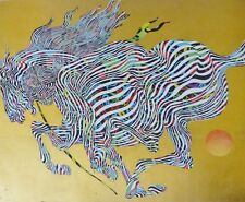 Guillaume Azoulay El Dorado Horse (Gold) HAND SIGNED Serigraph  Moroccan Artist