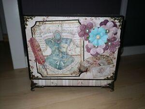 Scrapbooking Fotoalbum Box mit Album Stamperia Princess mit Video