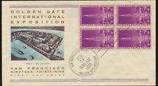 Golden Gate Exposition 1939 addressed Cachet Block FDC Unsealed LOT A260