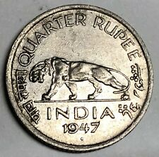 # C2268     INDIA     COIN,     QUARTER  RUPEE    1947