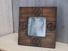 Bilderrahmen Holz  ca. 23 x 23 cm Landhausstil für Fotos 12,5 x 12,5