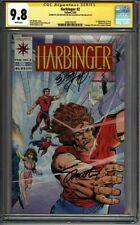* HARBINGER #2 (1992) CGC 9.8 Signed Shooter Layton Pre-Unity (1600103020) *