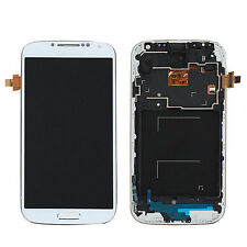 LCD Display Touch Screen Digitizer+Frame For Samsung Galaxy S4 i9505 White AI1G