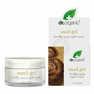 Dr. Organic Snail Gel Healthy-Aging Face Night Cream 50ml Hydrate Soothe Tone