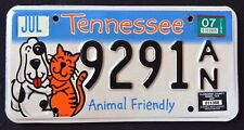 "TENNESSEE "" ANIMAL FRIENDLY - DOG - CAT "" 2007 TN Specialty License Plate"