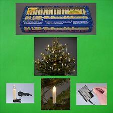 LED Weihnachts Kerzen Aussen Lichterkette Tannen Baum Weihnachten Dekoration NEU