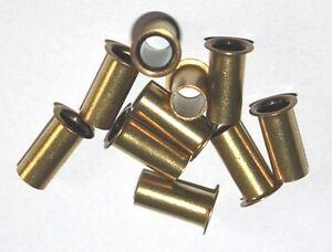 5 Verstärkungshülsen 6 mm Messing Kunststoff Polyamid Rohr Benzinleitung