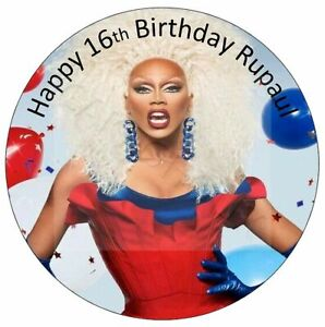 RuPaul Drag Race Edible Happy Birthday Cake Topper With Personalised Message