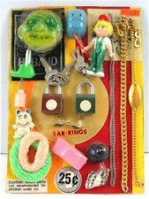 Lock & Key Bracelets Seashekll Toys Charms Gumball Vending Machine Disp Card #96