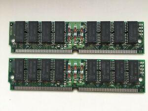 32MB 72pin 60ns memory SIMM, 2x 16MB modules Vanguard VG26V17405CJ, Vintage RAM