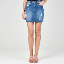 Firetrap Blackseal Denim Mini Skirt Blue Womens Ladies UK Size XS *REF52
