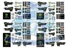 Monster Energy Racing - Waterslide Decals for Hot Wheels & Model Cars