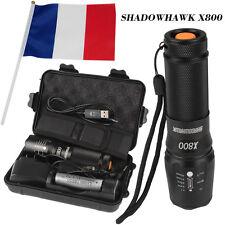 véritable 8000lm Authentique Shadowhawk X800 lampe de poch tactique LED Torch