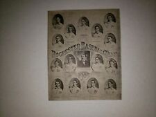 Rochester Bronchos 1905 Lajoie Issued Team Collage Ed Lennox Holly Emil Batch